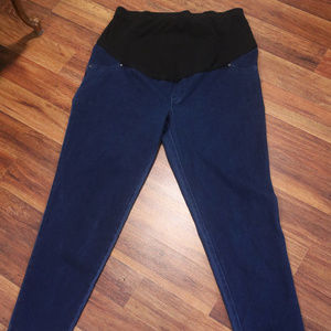 Blue Jean Time and Tru Maternity Stretch Leggings